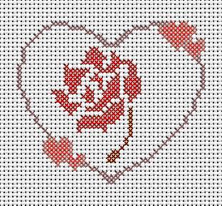 Coeur Rose Rouge