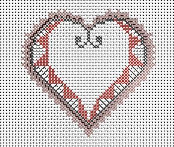 Coeur rose en dentelle